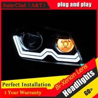 Auto Clud 2012 2015 For vw passat b7 headlights parking bi xenon lens LED DRL H7 xenon For vw passat HEAD LAMPS car styling