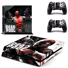 Console and 2 Controllers Skin Decals of Marvel DeadPool Skin Stickers