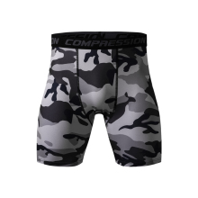 Mens Compression Shorts 2018 Summer Camouflage Bermuda Bodybuilding Fitness Tights Sexy
