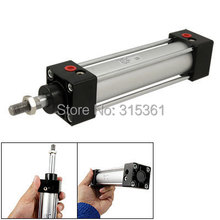 Free Shipping 32mm Bore Length 100mm Stroke Single Rod Dual Action Air Cylinder SC32 100