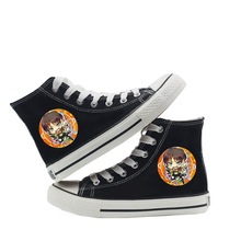 New Eren Mikasa Rivaille Attack on Titan Harajuku Ins Shoes Classic High Canvas Shoes Students Women And Men A193131 rivaille 33729 1373