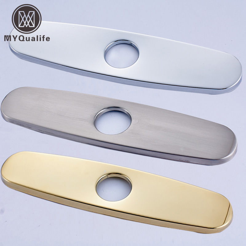 Free Shipping 10 Inch Bathroom Kitchen Sink Faucet Hole Decorate Plate Escutcheon Deck Cover Gold And Chrome/Nickle