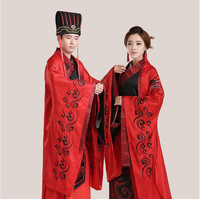 Traditional wedding Red Hanfu Clothes For Overseas Chinese Ancient China Wedding studio Gown Robe Dress Standard Ancient Garment