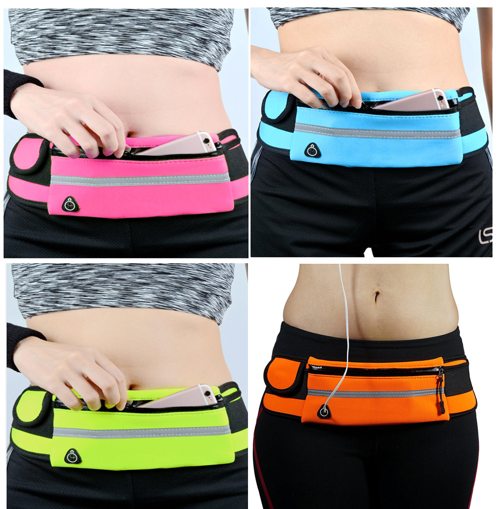 1pc Outdoor Running Waist Bag Waterproof Mobile Phone Holder Jogging Belt Belly Bag Women Gym Fitness Bag Lady Sport Accessories