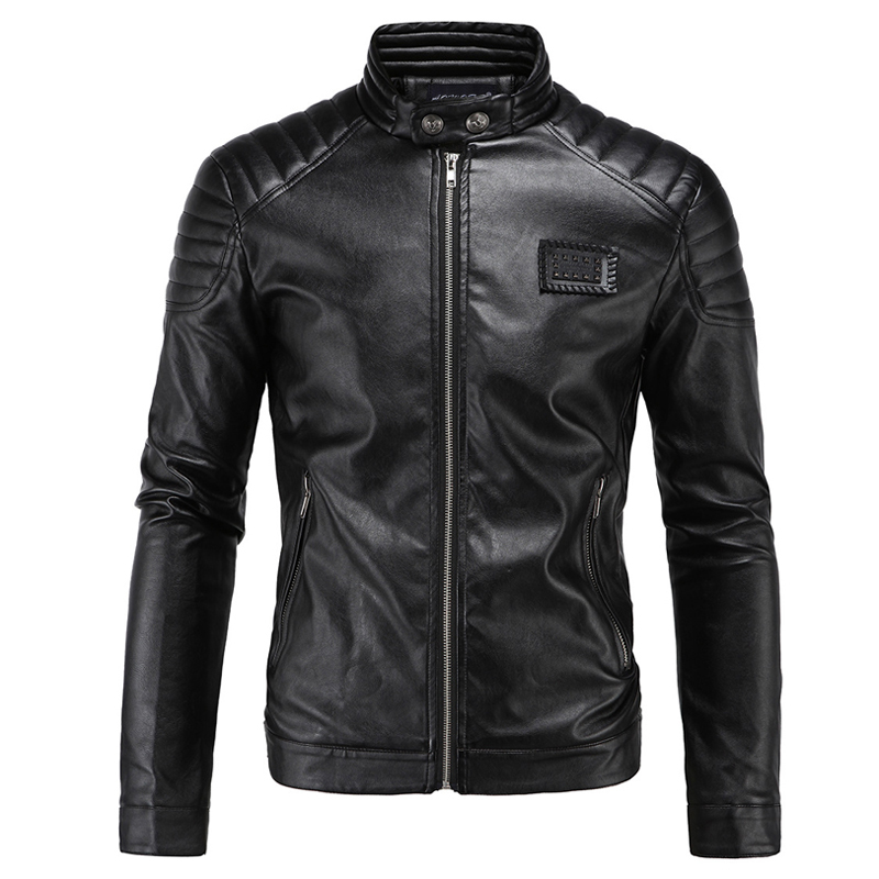 New Motorcycle Jacket PU Leather Men Vintage Retro Moto Faux Punk Leather Jackets Motorcycle Clothing Coats Slim Fit Size M-5XL free shipping new vintage brand clothing mens cow leather jackets men genuine leather biker jacket motorcycle homme fitness