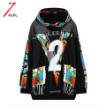 2017 new autumn women fashion punk letter printing harajuku sweatshirts hooded net patchwork black hoodies