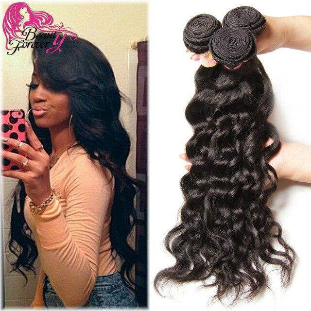 7a Unprocessed Malaysian Natural Wave Virgin Hair Weave Bundles 4pcs