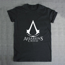 Mystic White Assassins Creed Sign Men's T-shirt Boys Cotton White Tshirt Novel Swag Tee Male Anime Comics Clothes T-shirts