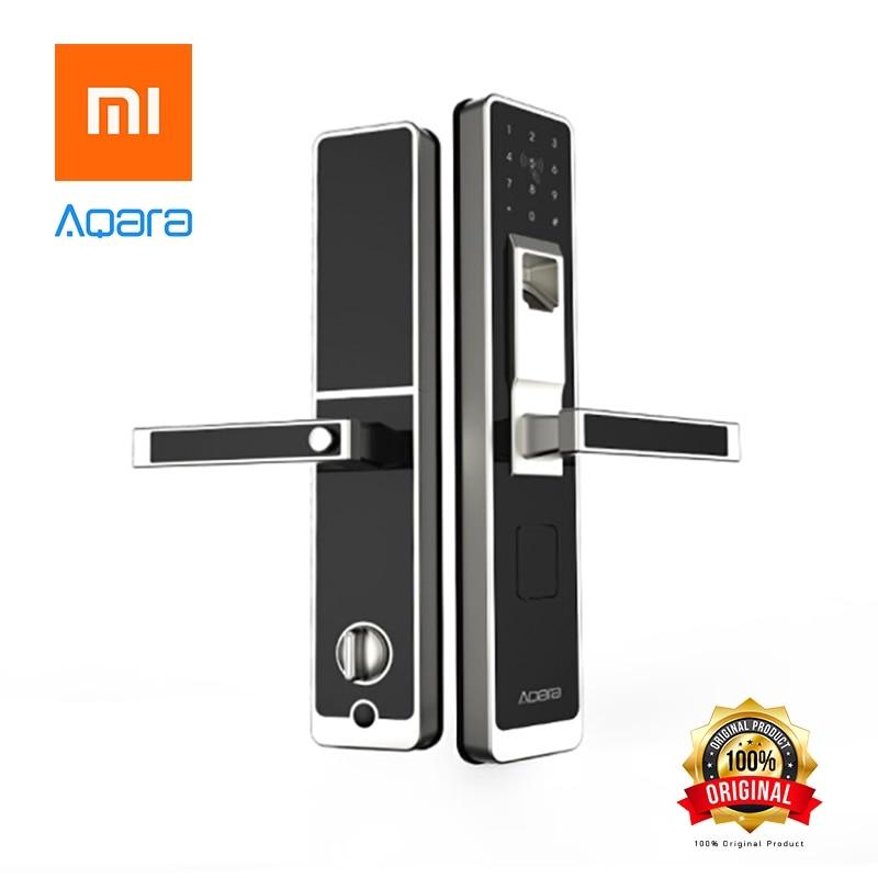 купить Xiaomi Mijia original Aqara Smart door lock, Digital Touch Screen Keyless Fingerprint Password Mi home APP Phone Control по цене 25490.9 рублей