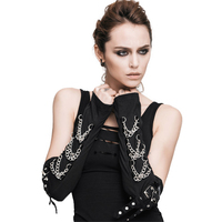 Дьявол Мода Человек Для женщин зимние хлопковые Митенки для женщин цепи, мягкие удобные черные руку нарукавник