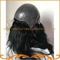 Настроенные женщины большой парик Полная тонкой кожи базы стиль Индийский реми волосы природных Леди pu Полный Cap Парики бесплатная доставка
