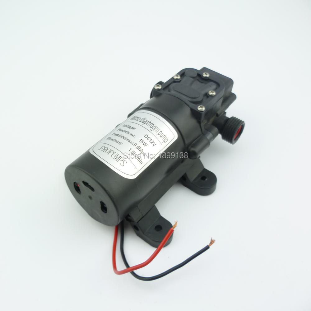 Электрический обратный клапан, самовсасывающий насос высокого давления, 12 В, 15 Вт, 1,5 л/мин|water pump|type pumpwater water pump | АлиЭкспресс