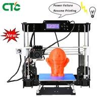 A8 3D Printer Kit High Precision Reprap i3 5mm acrylic frame Resume Power Failure Printing 3pcs filament for modeling & toys