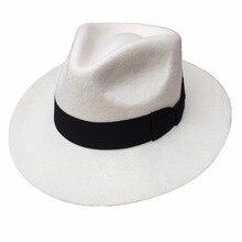 Classic Men's Wool Felt Godfather Fedora Hat - Gangster Mobs