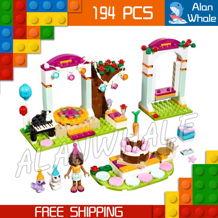 194pcs 2016 Bela 10492 Friends Birthday Party Mixed Building Bricks Blocks Classic Girls ...