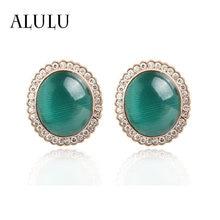 Круглые серьги alulu модные украшения из горного хрусталя карамельных