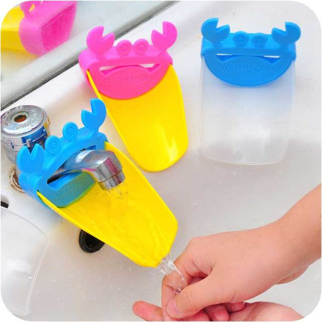 2018 New Cute Faucet Extender Toddlers Kids Babies Sink Handle Extenders for Home Bathroom Accessory Supply 1
