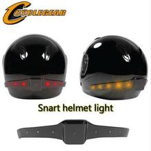 Hot Sales!!! Wireless Motorcycle Smart Helmet Light LED Safety Light With Running Lights Brake Lights Turn Signal Indicators