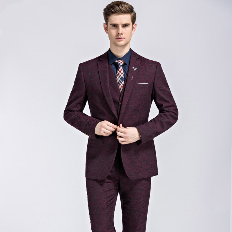 Online Buy Wholesale Burgundy Suit Jacket From China