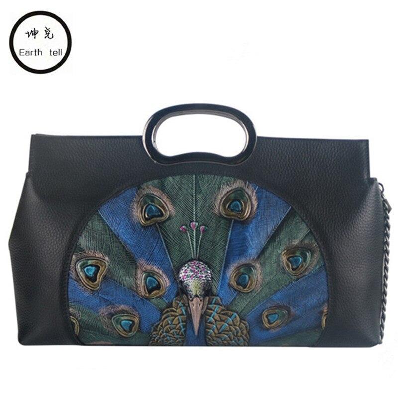 Ladies Genuine Leather Bags For Women First layer cowhide Luxury Handbags Female Flower Embossed Messneger Bag Brand Totes Bolsa