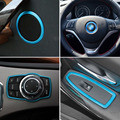 For BMW 3 Series F30 F34 320 328 Window Switch Panel Cover + Door Speaker Trim + Steering Wheel Ring + Multimedia Buttons Cover