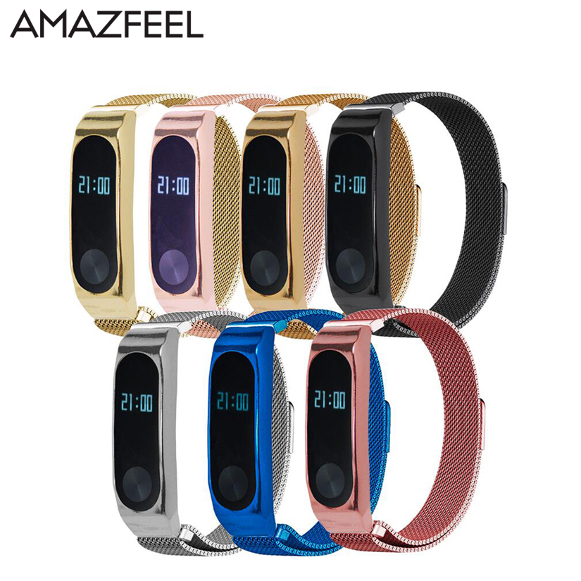 Metal Strap For Xiaomi Mi Band 2 Strap Screwless Stainless Steel Bracelet Miband2 Band Replace Accessories For Mi Band 2 cindiry milanese loop strap for xiaomi mi band 2 screwless stainless steel bracelet watch band replace accessories for band p15