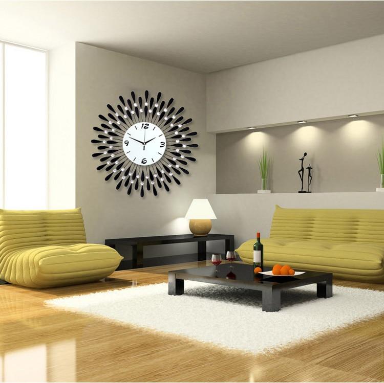 Personalized Large Modern Wall Clock Fashion Mute Electronic
