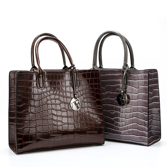 Patent Leather Stone Pattern Ladies Handbag New Fashion High Quality Casual Wild Shoulder Messenger Bag