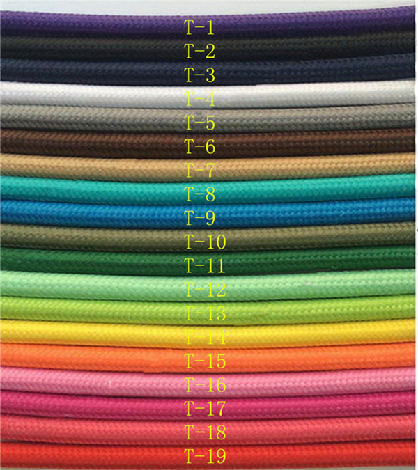 2*0.75 5M /Lot Edison Textile Cable Fabric Wire Chandelier Pendant Lamp Wires Braided Cloth Electrical Cable Vintage Lamp Cord