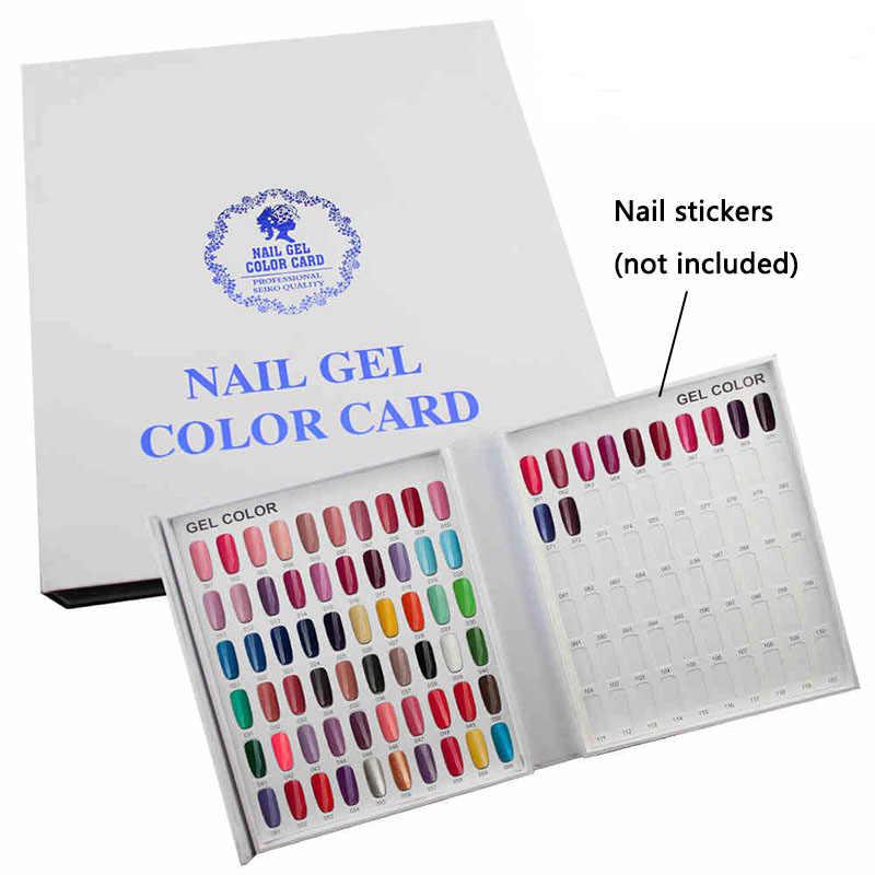 جيل للأظافر البولندية صندوق عرض اللون كتاب نموذج المهنية مخصصة 120 ألوان بطاقة الرسم البياني اللوحة مانيكير مسمار أدوات الرسم
