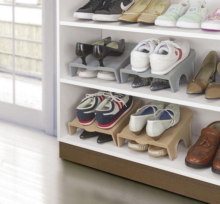 Japan Sanada Plastic Household Cabinet Closet Shoes Stand Rack Holder Shoes  Storage Organizer Shelf [ 1 Pc ] Grey On Aliexpress.com | Alibaba Group