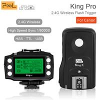 Pixel King Pro Wireless 2.4GHZ TTL HSS 1/8000S Shutter Flash Remote Control Flash Trigger For Canon 5D MarkIII Eos 6D 7D 50D 40D