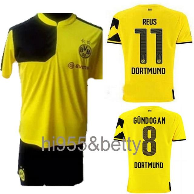 TOP Quality 2015-16 Borussia Dortmund training kits SOCCER JERSEY Sports  suit 15-16 BVB REUS GUNDOGAN trainning football sets 42574bc6e