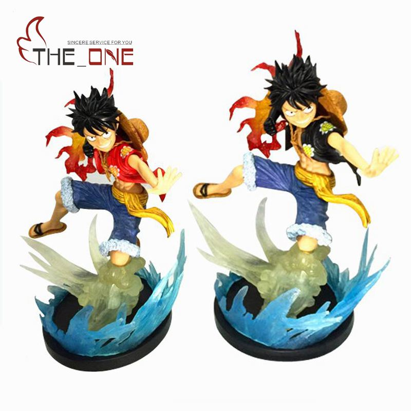24 cm 9.5 Cartoon One Piece Monkey D Luffy Black Red Coat PVC Anime Action Figure Toys Kids Adult Collection Model Gift P011 new hot 12cm one piece boa hancock monkey d luffy modelling action figure toys collection doll christmas gift with box