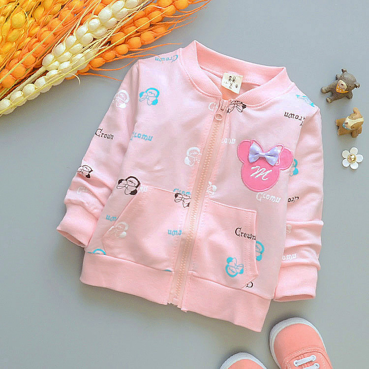 (1piece /lot) 100% cotton 2017 baby outerwear for baby girl (1-3 year old ) 73-100cm