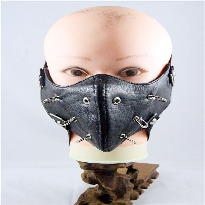 10pcs/Pack Christmas gifts new hipster show rivets masks rock non-mainstream masks men's personality motorcycle masks 10pcs pack new influx of people performing masks ghoul stage masks men and women personality dustproof windproof masks