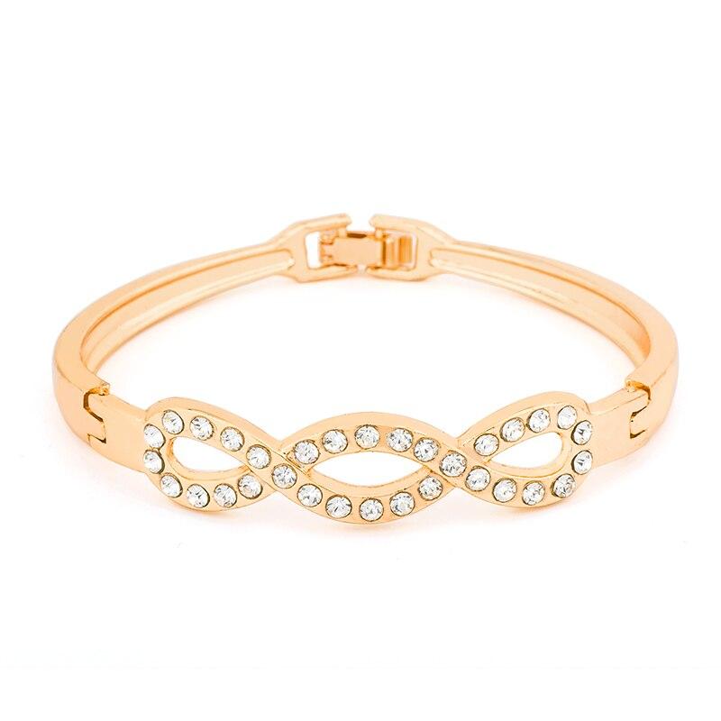 SHUANGR charm women hot popular quality AAAA+ Rhinestones Crystal Circle Cuff Bracelet Bangle Fashion jewelry