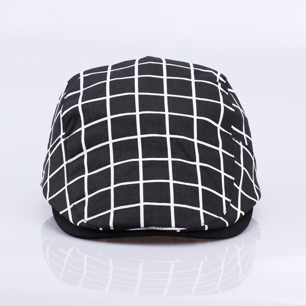 0cb7c3aa39e New Fashion Gatsby Newsboy Cap Men Cotton Hat Golf Driving Flat Cabbie  Unisex Plaid Check Berets Hat Duckbill Cap-in Newsboy Caps from Apparel  Accessories ...
