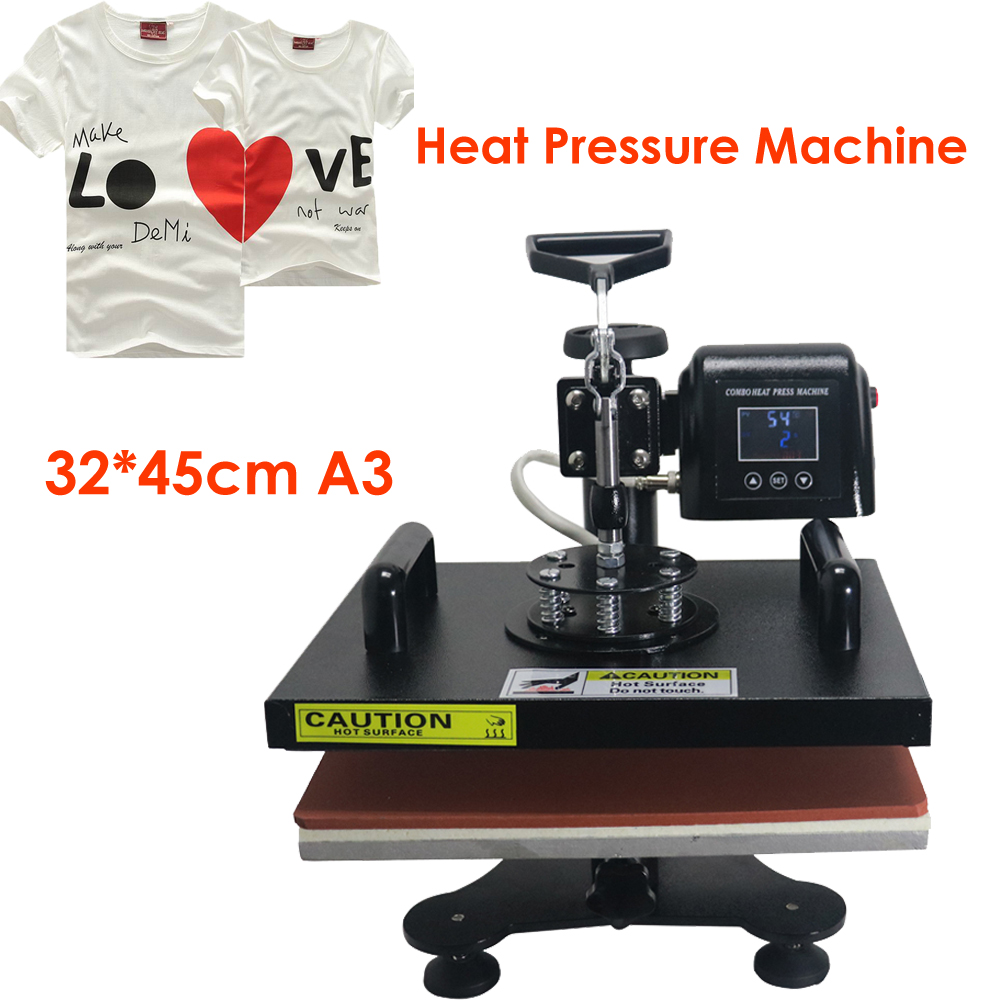 ToAuto Heat Press Machine Sublimation Transfer T-Shirt Machine CE 32*45cm Custom Phone Case Pad Embossing Machine wtsfwf freeshipping 3d sublimation printed mold sublimation metal moulds heat press moulds for wireless mouse