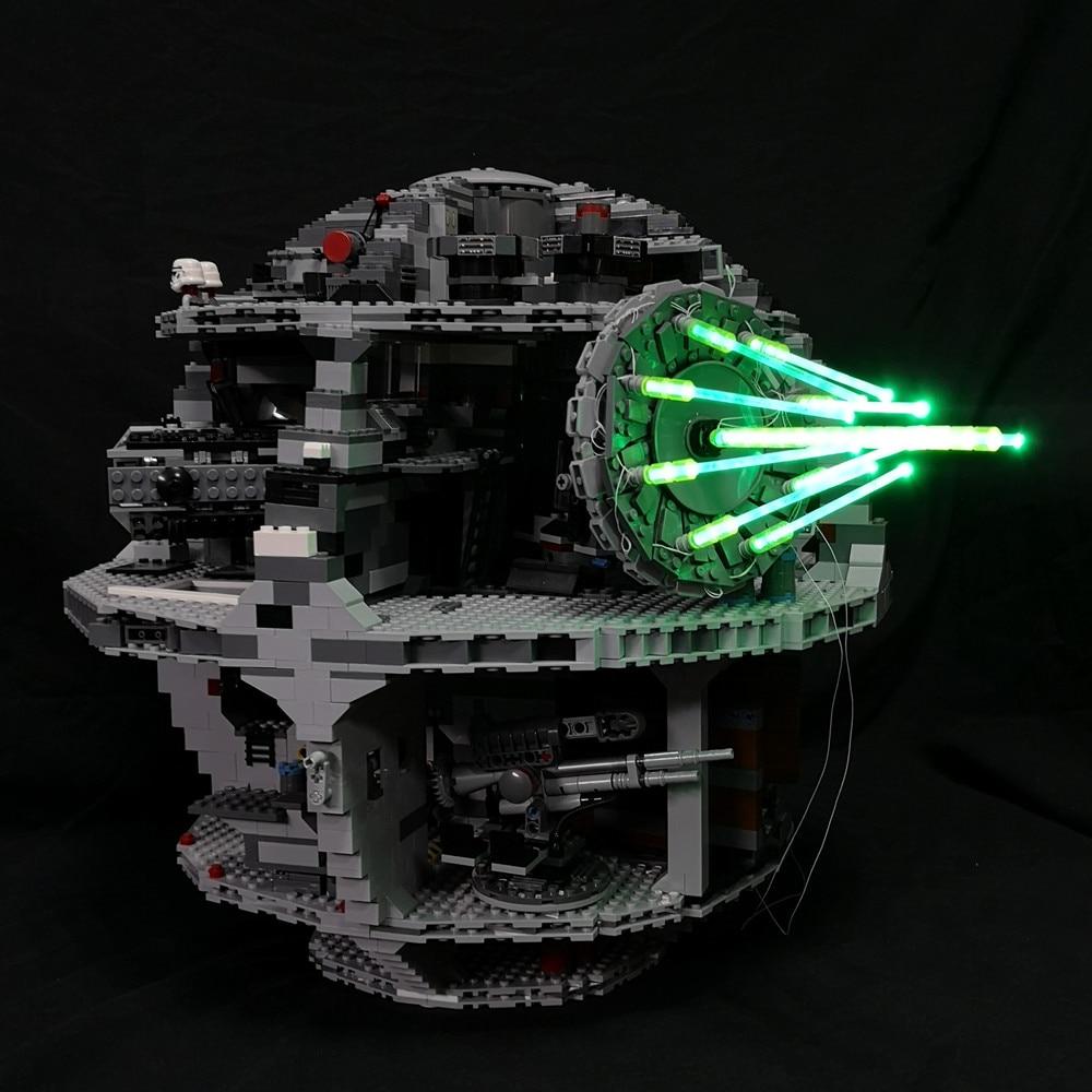 JULITE Led licht up kit für lego 10143 75159 10188 Kompatibel mit 05026 Star Wars Todesstern II Ultimative Waffe laser kanone