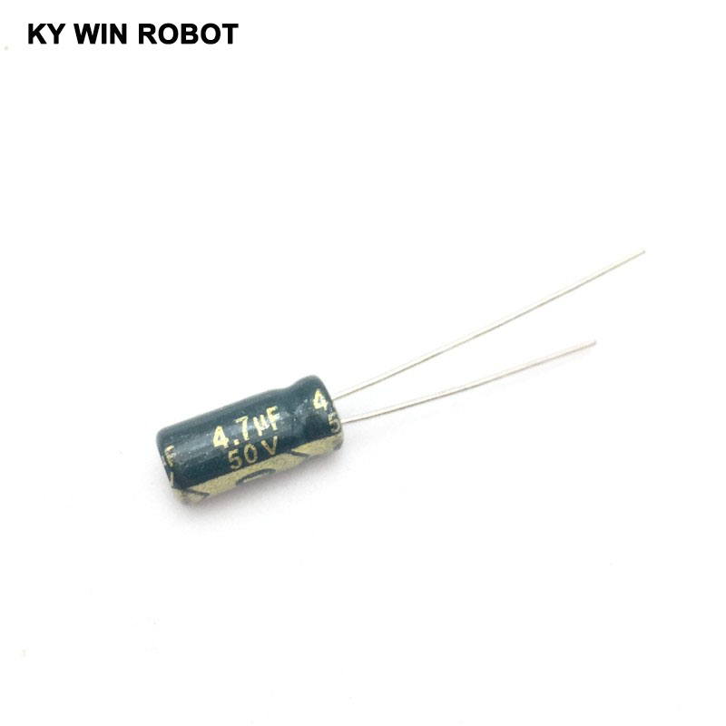 Image 3 - 50pcs/lot 4.7UF 50V 105C 5X11mm Aluminum Electrolytic Capacitor 50V4.7UF radial lead 50pcs-in Capacitors from Electronic Components & Supplies