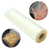 Durable 20cmx500cm Vacuum Heat Sealer Food Fresh Saver Bag Rolls Food Storage Bags Saran Wrapper Flim