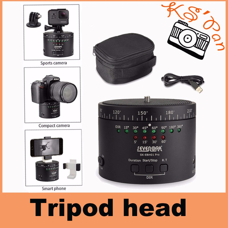 Motorized Panaromic Time Lapse Tripod Head for  DSLR Cameras for GoPro and for Smartphones john carucci gopro cameras for dummies