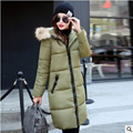 Chaqueta de invierno mujeres abajo abrigo de pieles abrigos manteau femme y chaquetas abrigos de 2016 de largo para mujer parka chaquetas y abrigos esquimales para hiver