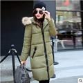 Mulheres jaqueta de inverno para baixo casaco manteau femme abrigos de pele y chaquetas casacos longos 2016 mulheres parka casacos e parkas para hiver