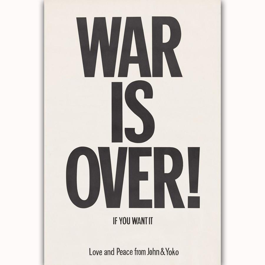 Mq3695 John Lennon Yoko Ono War Is Over 1969 Rock Music Band Quote
