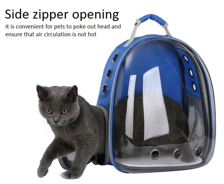 Panoramique Transparent espace sac à dos pour animaux de compagnie chien et chat Portable sac à dos sac de voyage fournitures pour animaux de compagnie sac de transport pour animaux de compagnie