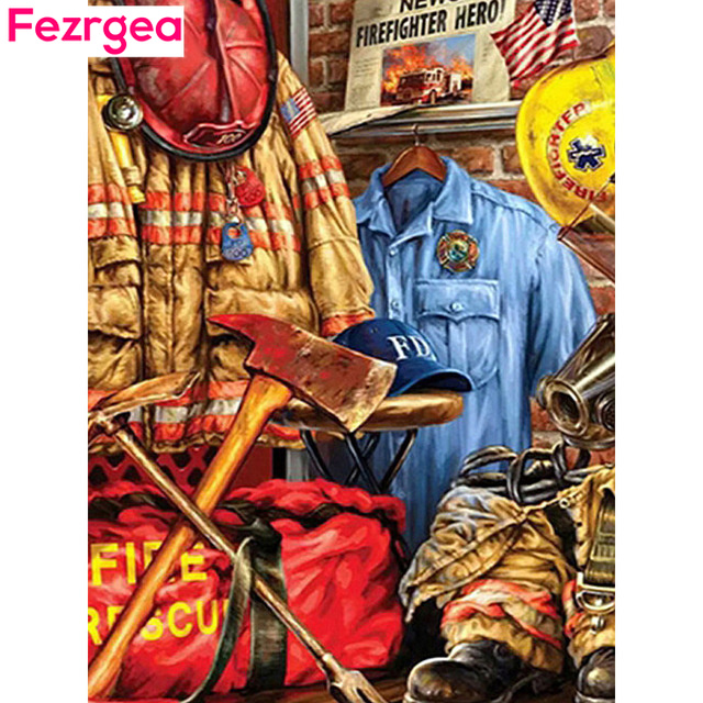 Fezrgea Diamond Embroidery Full Round Display Cartoon Painting New Arrival Rhinestones Pictures Cross Stitch Needlework