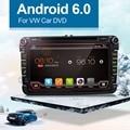 Авто Quad Core Android 6.0 Автомобильный DVD Емкостный Экран Для VW Golf 5 6 Поло Passat Jetta Tiguan Touran SKODA Octavia СИДЕНЬЯ Altea