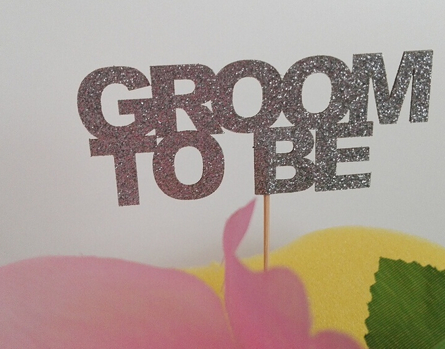 glitter groom to be cupcake toppers bridal shower bachelorette decorations wedding cake